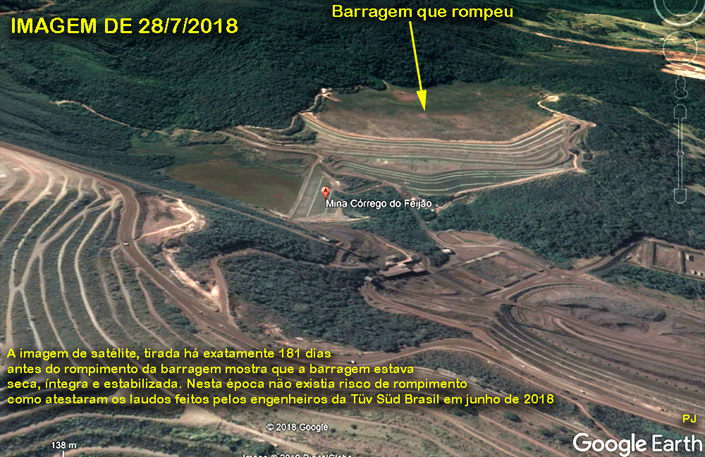Barragem antes do rompimento